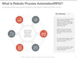 What Is Robotic Process Automation RPA Ppt Powerpoint Presentation Example 2015