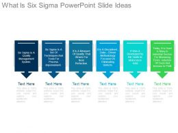 What Is Six Sigma Powerpoint Slide Ideas