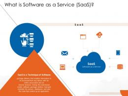 What Is Software As A Service Saas Cloud Computing Ppt Diagrams