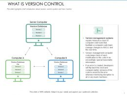 What Is Version Control Code Keeps Ppt Powerpoint Presentation Infographic Template Guide