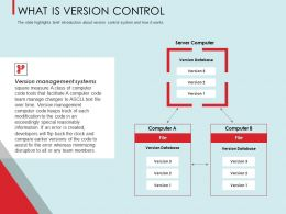 What Is Version Control Database Ppt Powerpoint Presentation Layouts Vector