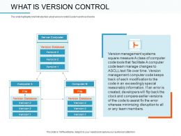 What Is Version Control Track Ppt Powerpoint Presentation Show Objects