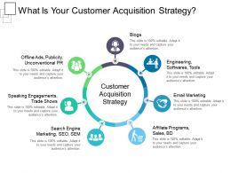 What Is Your Customer Acquisition Strategy Powerpoint Templates