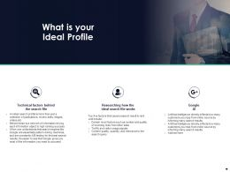 What Is Your Ideal Profile Ppt Powerpoint Presentation Inspiration Samples