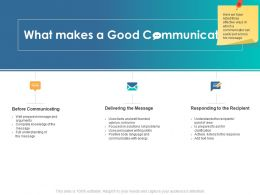 What Makes A Good Communicator Solutions Ppt Powerpoint Presentation Skills