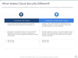 What Makes Cloud Security Different Cloud Security IT Ppt Guidelines
