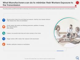 What Manufacturers Can Do To Minimize Workstations Ppt Presentation Summary