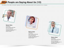 What People Are Saying About Us M1395 Ppt Powerpoint Presentation Infographic Objects