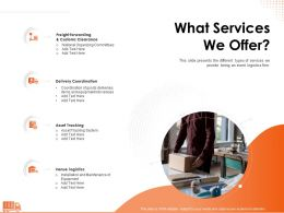 What Services We Offer Goods Ppt Powerpoint Presentation File Images