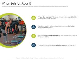 What Sets Us Apart Cutting Edge World Powerpoint Presentation Download