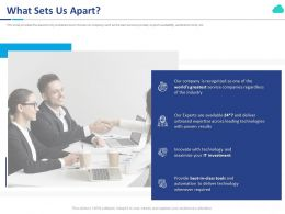What Sets Us Apart Ppt Powerpoint Presentation Slides Smartart