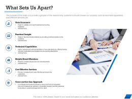 What Sets Us Apart Practical M1686 Ppt Powerpoint Presentation Pictures Graphics Download