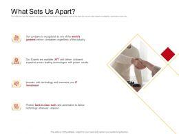 What Sets Us Apart Proven M2724 Ppt Powerpoint Presentation Portfolio Example