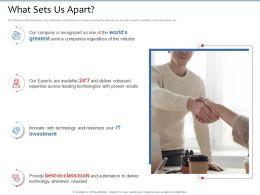 What Sets Us Apart Proven Results Ppt Powerpoint Presentation Portfolio Templates