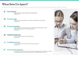 What Sets Us Apart Services Ppt Powerpoint Presentation Pictures Outfit