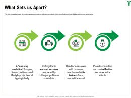 What Sets Us Apart Sessions M1612 Ppt Powerpoint Presentation Show