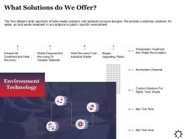 What Solutions Do We Offer Exhaust Ppt Powerpoint Presentation Portfolio Deck