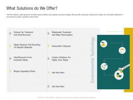 What Solutions Do We Offer Ppt Ideas Background Images