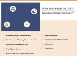 What Solutions Do We Offer Ppt Template Ideas