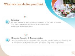 What We Can Do For You Transportation Ppt Demonstration