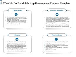 What We Do For Mobile App Development Proposal Template Ppt Powerpoint Summary