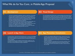 What We Do For You Cont In Mobile App Proposal Design Ppt Powerpoint Presentation Icon