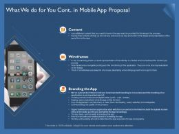 What We Do For You Cont In Mobile App Proposal Wireframes Ppt Icon Designs