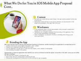 What We Do For You In IOS Mobile App Proposal Cont L1544 Ppt Powerpoint Guide