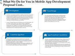 What We Do For You In Mobile App Development Proposal Cont L1555 Ppt Powerpoint Gallery