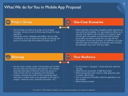 What We Do For You In Mobile App Proposal Ppt Powerpoint Presentation File Brochure