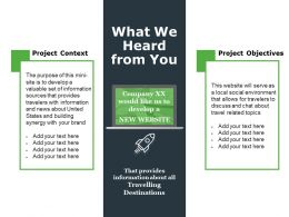What We Heard From You Ppt File Ideas