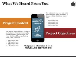 What We Heard From You Ppt Summary Infographics