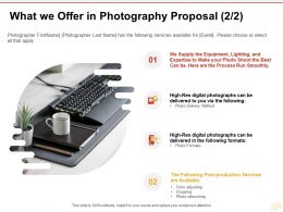 What We Offer In Photography Proposal Digital Photographs Ppt Powerpoint Presentation Professional