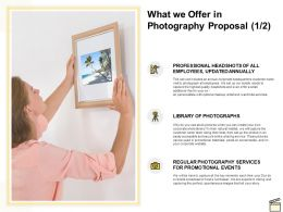 What We Offer In Photography Proposal Ppt Powerpoint Presentation Slides Show