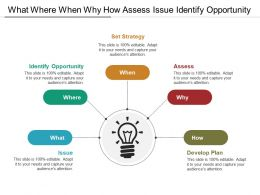What Where When Why How Assess Issue Identify Opportunity