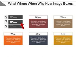 What Where When Why How Image Boxes