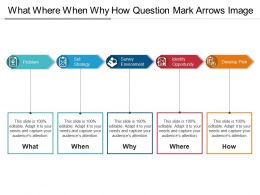 What Where When Why How Question Mark Arrows Image