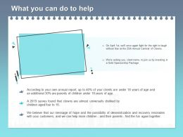 What You Can Do To Help L1773 Ppt Powerpoint Presentation Layouts Inspiration