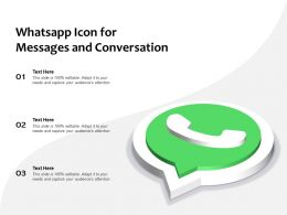 Whatsapp Icon For Messages And Conversation