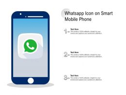 Whatsapp Icon On Smart Mobile Phone