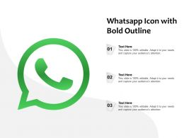 Whatsapp Icon With Bold Outline