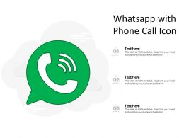 Whatsapp With Phone Call Icon