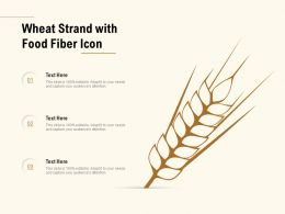Wheat Strand With Food Fiber Icon