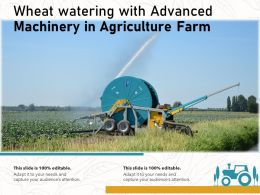 Wheat Watering With Advanced Machinery In Agriculture Farm