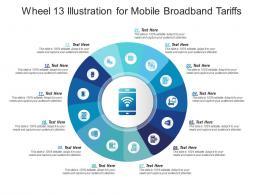 Wheel 13 Illustration For Mobile Broadband Tariffs Infographic Template