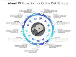 Wheel 13 Illustration For Online Disk Storage Infographic Template