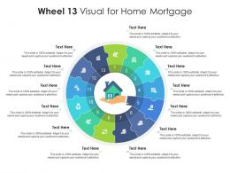 Wheel 13 Visual For Home Mortgage Infographic Template