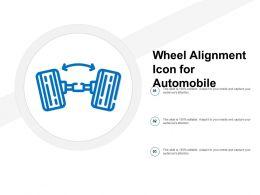 Wheel Alignment Icon For Automobile