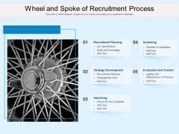 Wheel And Spoke Of Recruitment Process