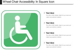 Wheel Chair Accessibility In Square Icon